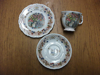 Brambly Hedge Royal Doulton Autumn Cup Saucer Plate Trio 4 Seasons 1St Quality
