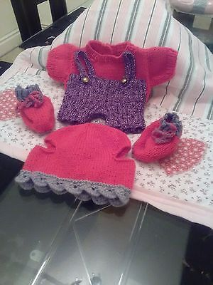 hand knitted build a bear outfit