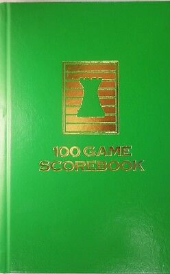 Mint Green Hardcover Chess Scorebook - Chess Notation Pad - Made in USA