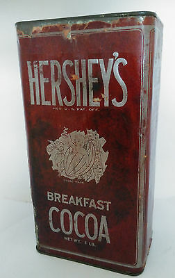 Vintage Hershey's Cocoa Tin Paper Label 1 lb. Bakery & Baking Kitchen