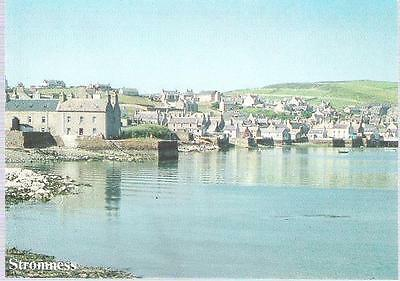Stromness, Orkney - piers - postcard by Charles Tait c.1980s