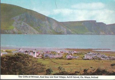 Achill Island, Co. Mayo - Cliffs of Minaun, Keel Bay & village - Cardall c.1960s