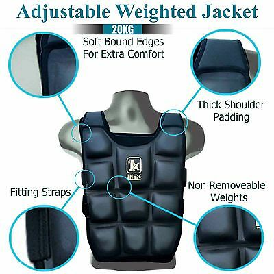 20Kg Weighted Jacket Padded Adjustable Weight Strength Training Weighted Vest