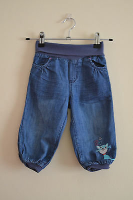 H&M Baby Girls Denim Trousers Size 9-12 months- Cheap postage available at £1.50