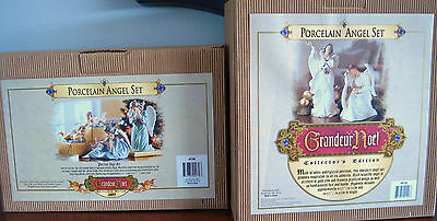 2 SETS 6pc. VINTAGE GRANDEUR NOEL PORCELAIN ANGELS 2003 COLLECTOR'S EDITION MIB