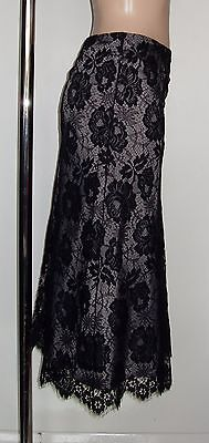 East Black Lace Skirt, Size 14
