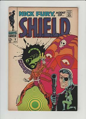 High Grade Marvel Comic: 1968  Nick Fury Agent Of Shield #5  Steranko  (P-068)