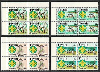 Tuvalu 50th Anniversary of Scouting in the Central Pacific 4v Top Left Block