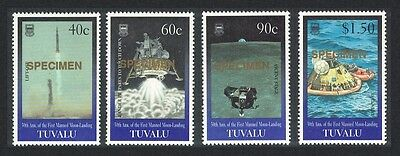 Tuvalu 30th Anniversary of the First Manned Landing on Moon 4v Specimen