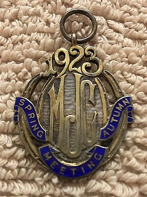 1923 Montreal Jockey Club Medal/pin - Stamped  Sterling - Stunning Rare Find