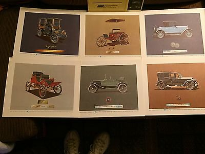 Vintage Classic Automobile Car Prints Set Of 6 Suitable For Framing 8x10
