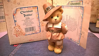 Cherished Teddies Figurine Jedediah Boxed With Papers