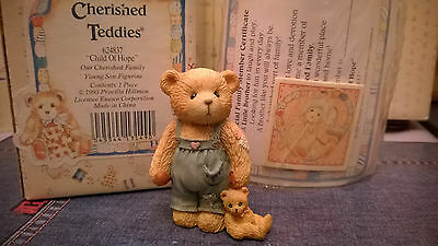 Cherished Teddies Figurine Child Of Hope Boxed With Papers
