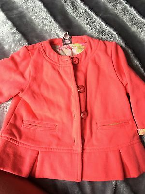 Baker Baby By Ted Baker Baby Girl Spring Summer Pink Floral Jacket BNWT