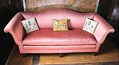 Antique Chippendale Silk Down Pillow Sofa Chaise Chair Loveseat Settee Couch