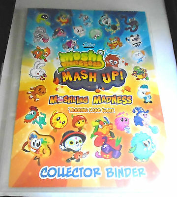 377 Moshi Monsters Mash Up! Trading Cards in Collector Binder with a few Doubles