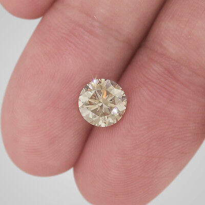 1.76 Ct Round Loose Diamond - Fancy Champagne Color SI1 Clarity Enhanced #D2682