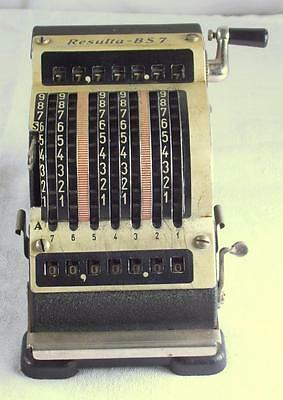 Vintage Resulta BS7 Adding Machine Mini BS-7 De Luxe Quiet Metal West Germany