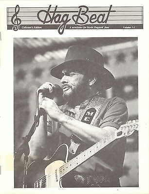 Merle Haggard 1988 Hag Beat Fan Club Newsletter Vol. 1, No. 1