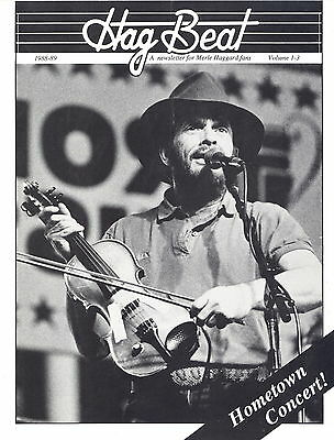 Merle Haggard 1988 Hag Beat Fan Club Hometown Concert Newsletter Vol. 1-3