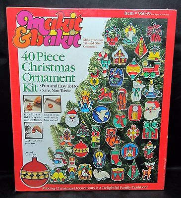 New Sealed Makit & Bakit 40 Piece Christmas Ornament Kit By Quincrafts Corp