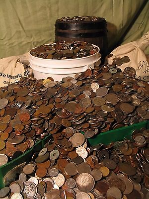 50 lbs of World Coins, Best Pounds Around, Guaranteed Medieval1500s-1900s+Silver