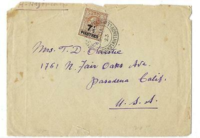 1923 Great Britain Offices In Turkey To USA Cover (KK82)