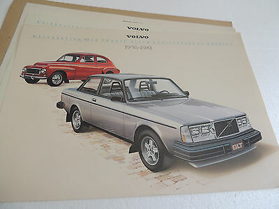 1981 Volvo 25th Anniversary in U.S. Art Prints 3 Prints all nice! Scarce!
