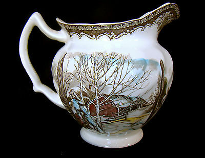 Johnson Brothers Friendly Village Pitcher 6 Inch 32 oz Made in England