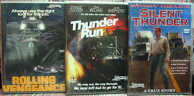 ROLLING VENGEANCE - THUNDER RUN - SILENT THUNDER - Trucker Drama 3 DVD Package