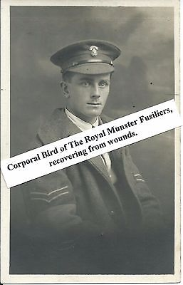 Military Real Photo Postcard  - Royal Munster Fusiliers