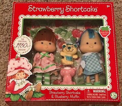 Strawberry Shortcake & Blueberry Muffin Doll 2-Pack with Pets New Retro