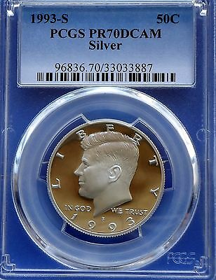 1993-S 50C Silver DC (Proof) Kennedy Half Dollar--PCGS Pr70 Deep Cameo--The Best