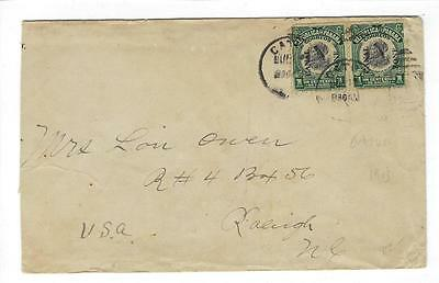 1913 Panama Canal Zone To USA Cover (DD29)