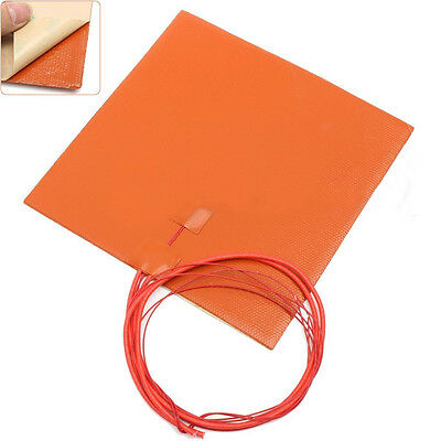 200W 12V 20x20cm Silicone Heater Pad For 3D Printer Heated Bed Heating Mat IP65