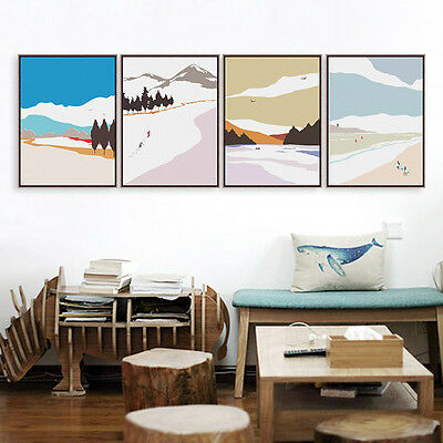 Modern Season Travel Landscape Art Print Poster Home Wall Decor Canvas Painting