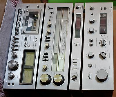 Technics Amplifier Su-V2, With Tuner, Tape Deck & Audio Timer