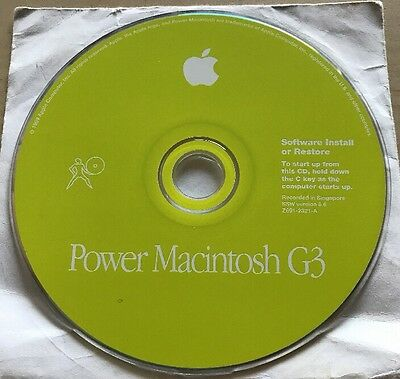 Apple Power Macintosh G3 Software Install Disc OS 8.6 Z691-2321-A
