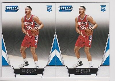 16/17 THREADS ROOKIE RC SP #156 SIXERS 76ers - BEN SIMMONS x2