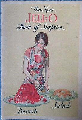 Vintage 1930 The New Jell-o Book Of Surprises Desserts and Salads Recipe Booklet