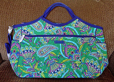 Vera Bradley Carry All Travel Bag In Emerald Paisley Retired Pattern Nwt