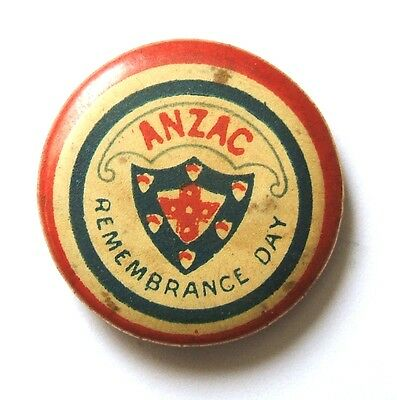 Anzac Remembrance Day Fundraising Button Badge