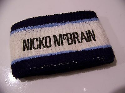 Vintage IRON MAIDEN NICKO MCBRAIN SOMEWHERE IN TIME Tour Wristband Sweat Band