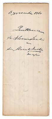 Quebec Rare 1860 Vintage 157 Year Old Legal Stampless Document See Note