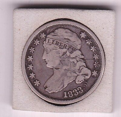 1833  Capped  Bust   10c /  Dime  (90% Silver) Coin