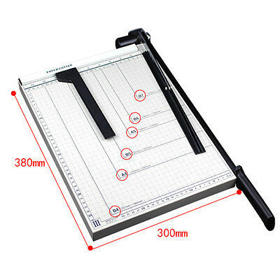 "Pro Office B4 Trimmer Paper Cutter 15"" Guillotine Blade Metal Base Scrap Booking"