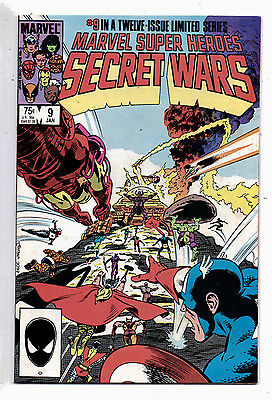 Secret Wars 1, #9 + #10, of 12-issue Limited Series, Marvel, 1985, VF+