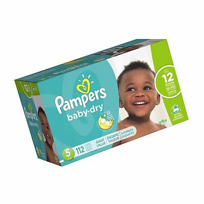 Pampers Baby Dry Diapers Size 5 112 Count