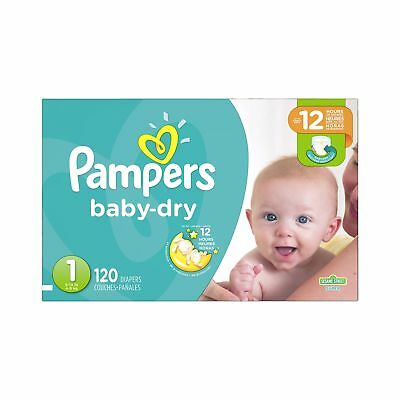 Pampers Baby Dry Newborn Diapers Size 1 120 Count