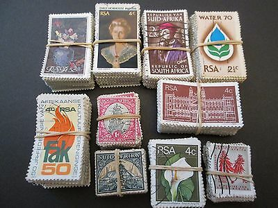 SOUTH AFRICA X 1000 USED STAMPS aprox. 10 BUNDLES X 100.  SALE  #T002